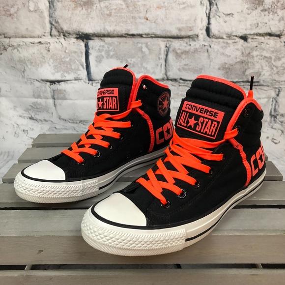 4d9d704c4493 Converse Shoes - Converse All Stars Neon Orange-Black High Top Sz 9